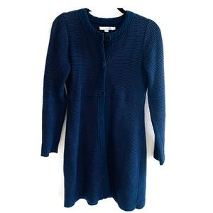 Boden Blue knitted cardigan sweater Long Jacket 6